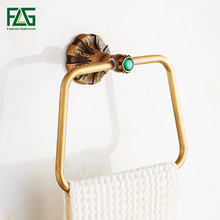FLG Towel Rings Wall Mounted Towel Holder Towel Ring  Antique Solid Brass Construction Bronze Finish Bath Hardware G130-06A стоимость