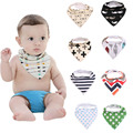 4 PCS/lot Baby Bandana Drool Bibs for babies Unisex To Toddlers Waterproof Cotton Double Saliva Bibs boys girls