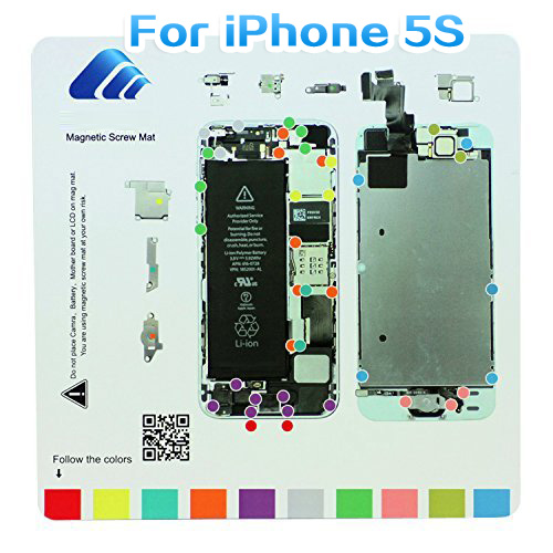 Convenient Family Must-Have Repair Tool Compatible with iPhone 4S Magnetic Screws Mat for Phone