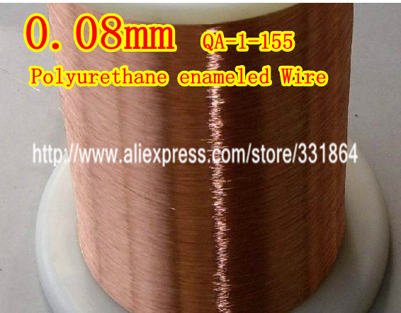 Polyurethane enameled Wire Copper Wire enameled Repair 0.08 *1000m / pcs QA-1-155 free shipping 0 35mm 500m qa 1 155 polyurethane enameled wire copper wire enameled repair cable