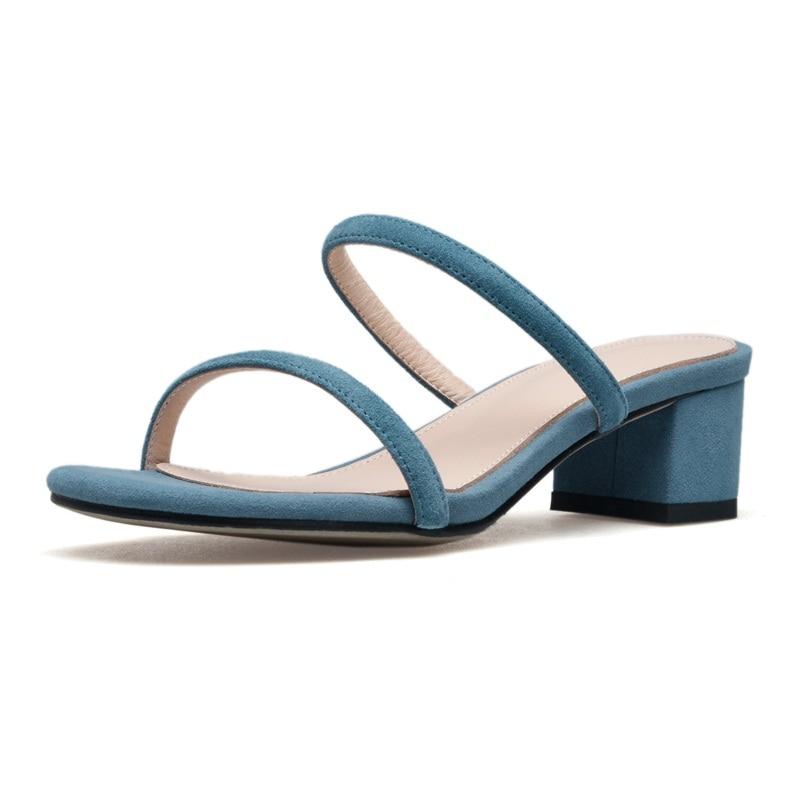 2018 Femmes De Pantoufles Nubuck Cuir apricot Robe Parti pink D'été Mode Vankaring Sandales Concis Nouveau blue Haute En Qulaity Casual Gladiateur Chaussures Black IYbf6gy7vm