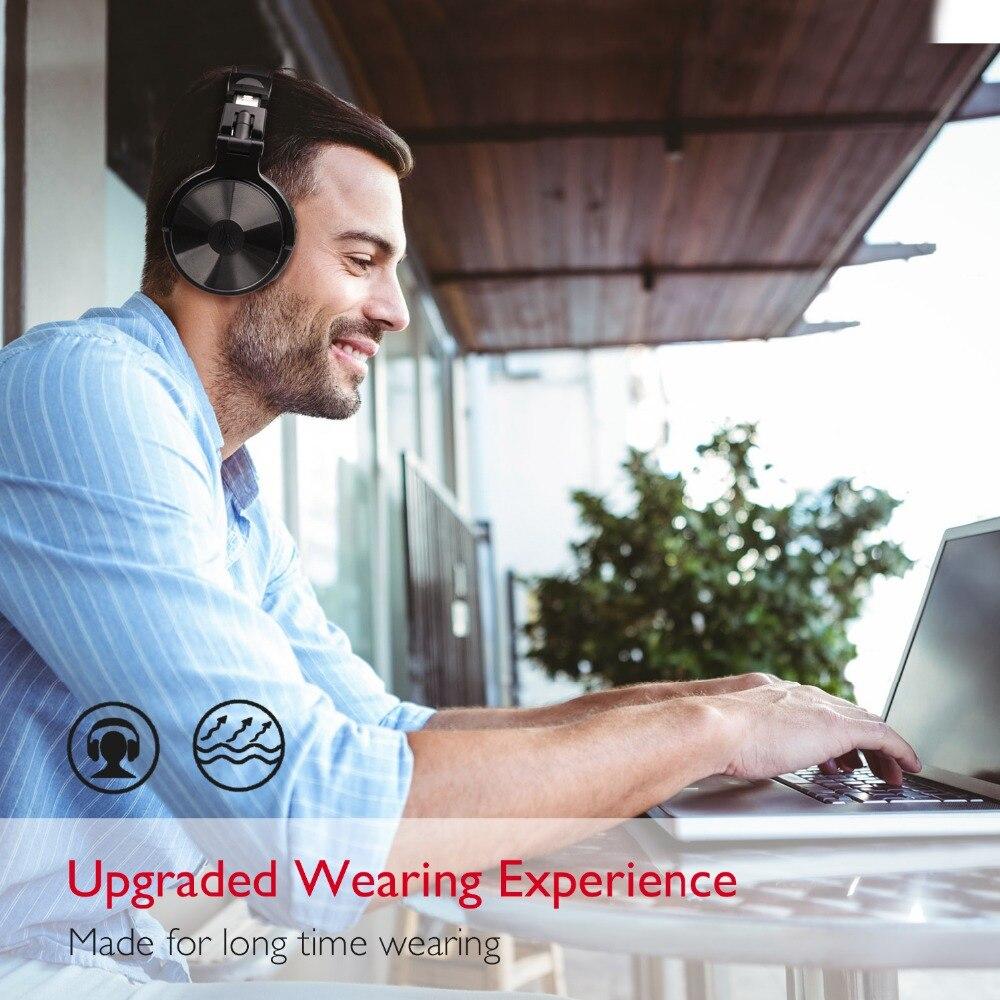 Oneodio Noise Cancelling Headphones V4.1 Bluetooth Casque Sans Fil Sur-Oreille Stéréo Sans Fil + Filaire Casque Pour Téléphones PC Nouveau - 6