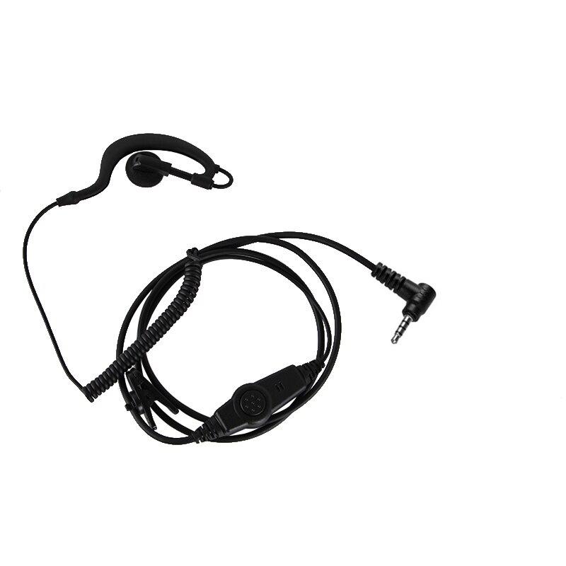 1pin 3.5mm G-shaped Ear hook Earphone Mic PTT Headset For Yaesu Vertex VX-2R VX-3R FT-10R FT-60R VX-351 VX-354 Two way radio