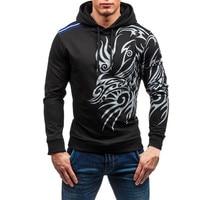 2017 New Brand Hoodies Men Sweatshirt Male Stitching Hooded Hip Hop Long Sleeve Sweatshirt Men Silm