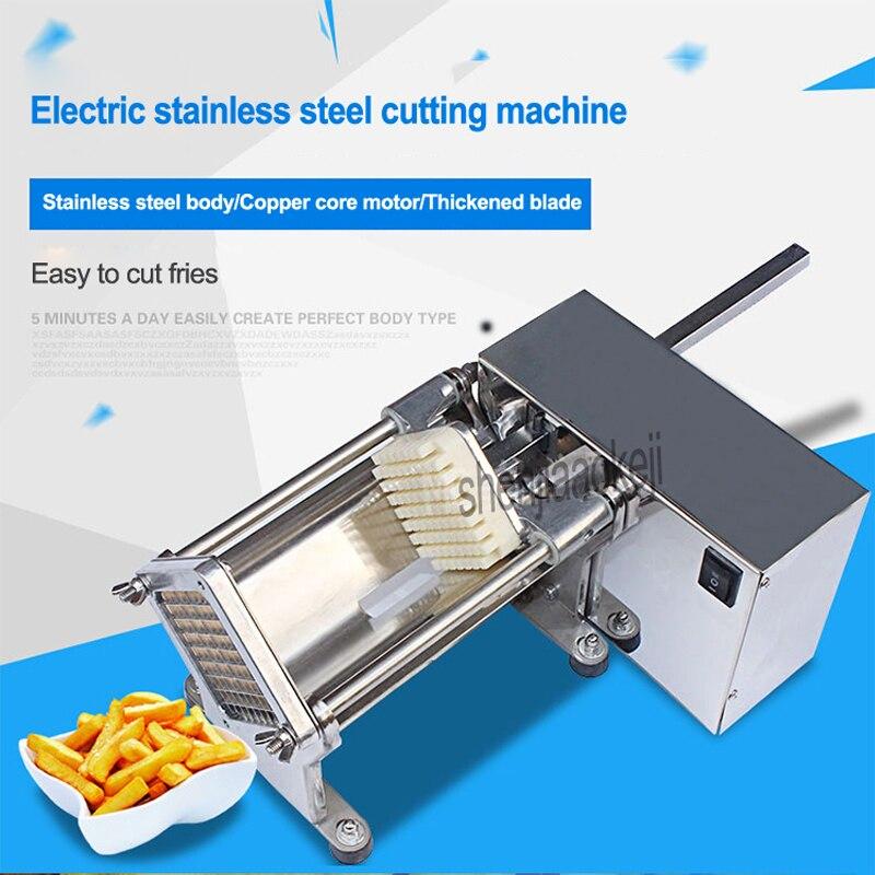 Электрический Резак для картофеля из нержавеющей стали коммерческий хрустящий картофель фри производитель огурцов, редис, машинка для чис... - 3