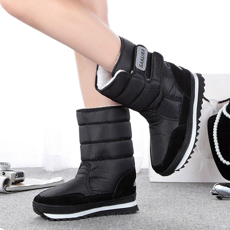 2017 Women snow boots winter Non slip weatherproof lady sir Muffin waterproof unisex boots Leisure candy