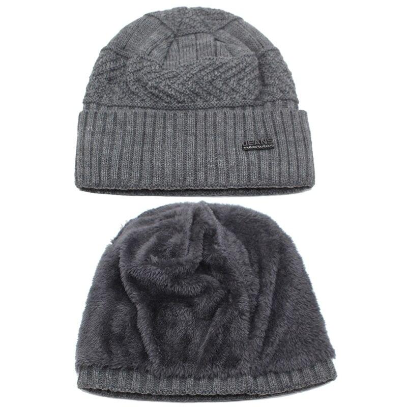 YOUBOME Skullies Beanies Winter Hats For Men Beany Knitted Hat Women Male Gorras Warm Soft Neck Balaclava Bonnet Beanie Hat Cap 4