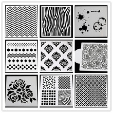 Plastic Stencil DIY cards stamp/scarpbooking/crafts Tablecloth Creative stencil /cake coffee model(China)