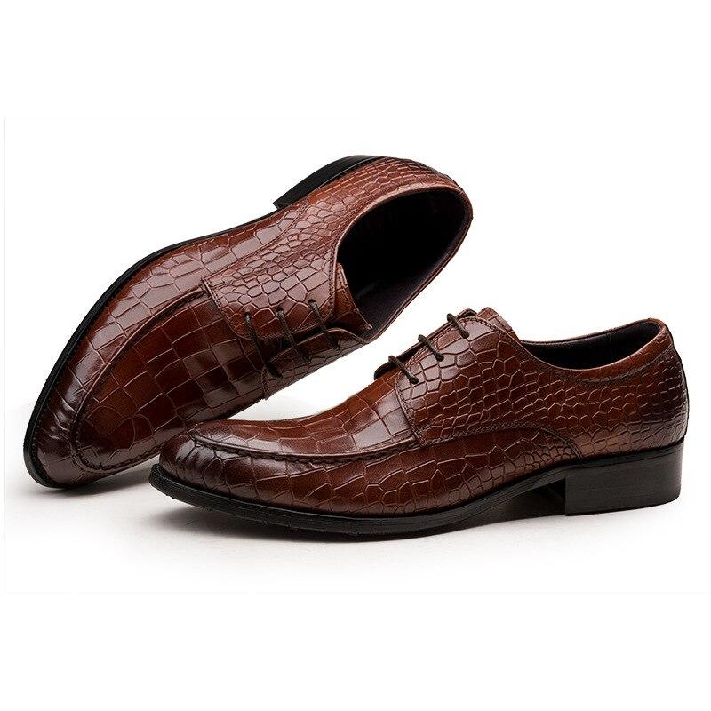 Мужские туфли в деловом стиле из натуральной кожи; Мужские модельные туфли; Мужская Роскошная обувь из воловьей кожи; Мужская Дизайнерская ... - 2