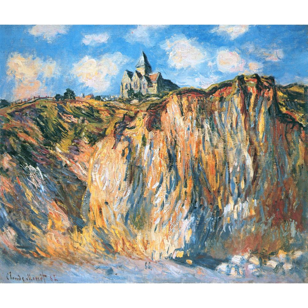 High quality Claude Monet paintings for sale Church at Varengeville, Morning Canvas art hand-paintedHigh quality Claude Monet paintings for sale Church at Varengeville, Morning Canvas art hand-painted