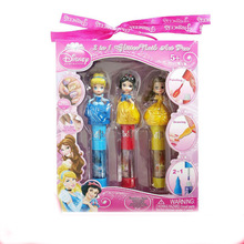 лучшая цена Disney pretend play Beauty  Fashion Toys Manicure Pen Child Makeup Girl Cosmetic Princess Princess Glitter Nail Brush Set