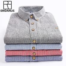 2017 sommer männer Gedruckt langärmeligen T shirt Männlichen Atmungsaktiver Baumwolle Streifen Mode Beiläufige Kollokation Trend Business hemd M341