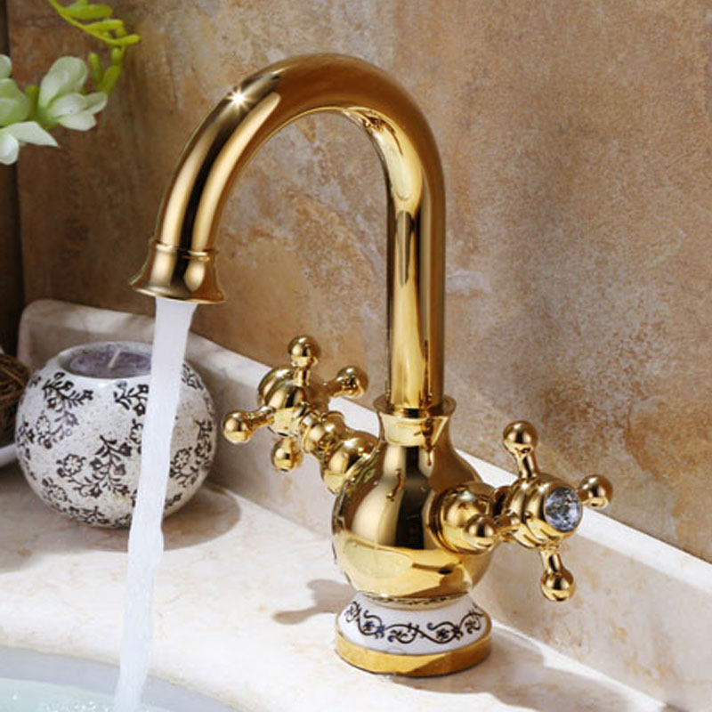 gold faucet vintage bathroom sink faucet nozzle filters water faucet aerator crane rubinetto. Black Bedroom Furniture Sets. Home Design Ideas
