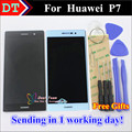 """High Quality Touch Screen Digitizer Touch Panel + LCD Display Replacement For Huawei P7 5.0"""" Smartphone Black White With Tools"""