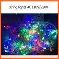 110 v/220 V Fada Luz Led String Luzes De Natal Guirlandas 10 m/100 leds Com 8 Diffrerent modos de Férias/Festa/Decoração
