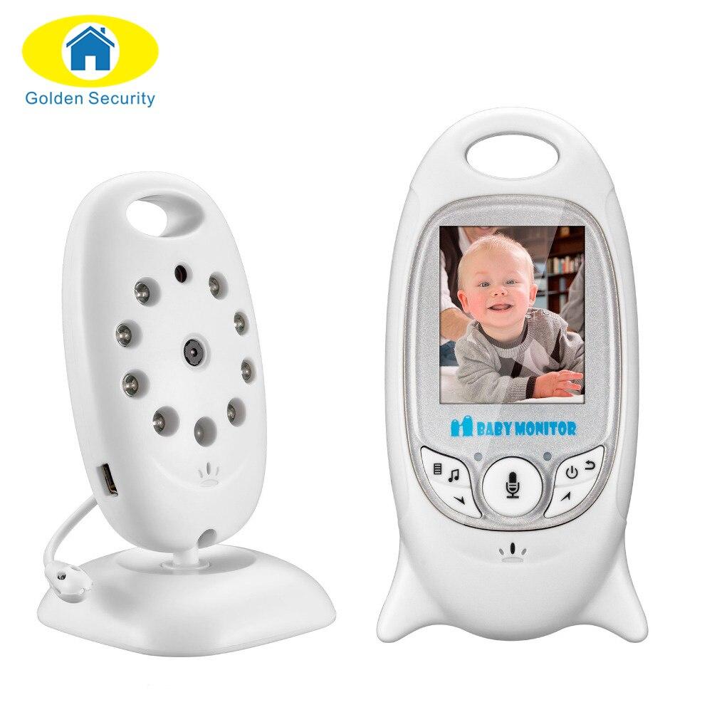 bilder für Golden Sicherheit Nachtsicht Infant Wireless Baby Monitor Digital Video Monitor Kamera Audio Musik Temperaturanzeige Monitor