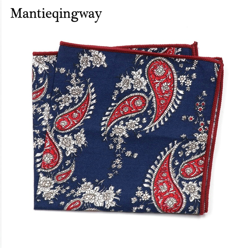 Mantieqingway Men's Handkerchief Wedding Business Cotton Polka Dot Chest Towel Floral Pocket Square Handkerchief Towels Hanky