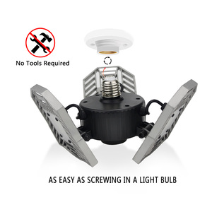 Image 2 - 60W 144 LEDs Deformable Lamp Garage Light E27 Led Corn Bulb High Intensity Parking Warehouse Basement Industrial Home Lighting