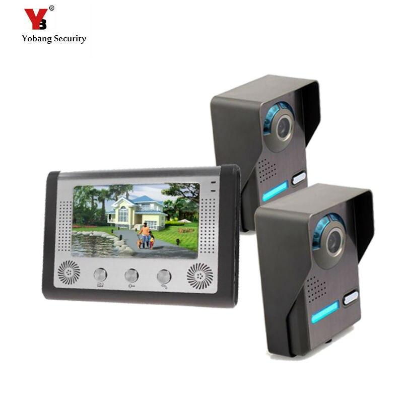 Yobang Security Freeship 7inch Door Intercom Door Station Door Bell Phone Video Intercom System Rain-proof Two Outdoor Unit