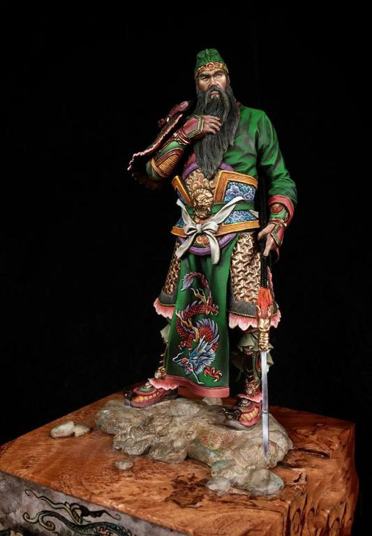 1/18 90mm Guan Yu, Chinese General Man 90mm   Toy Resin Model Miniature Resin Figure Unassembly Unpainted