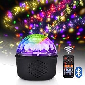 Image 1 - 9 Kleur Bluetooth Speaker Disco Ball Mini Music Audio Draadloze Dmx Stage Licht Club Draagbare Party Luid Dj Controller Projector