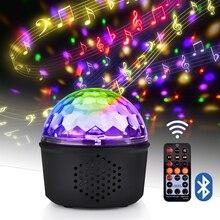 9 kolorów głośnik Bluetooth Disco Ball Mini muzyka Audio bezprzewodowy DMX światło sceniczne klub przenośny Party głośny kontroler DJ projektor