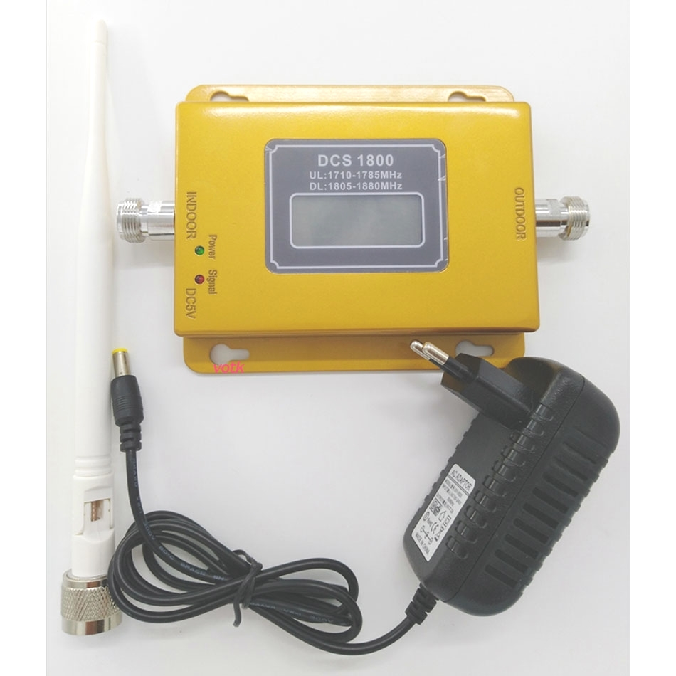 Amplificateur de signal Mobile LTE 1800 de répéteur de Signal de VOTK 1800 mhz DCS 2G 4G avec l'antenne d'intérieur