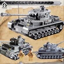 Duże Pancerna IV Zbiornika F2 1193 sztuk Zestaw Building Blocks Wojskowe armia zabawki zbiornika modele i kazi building klocki kompatybilne z lego