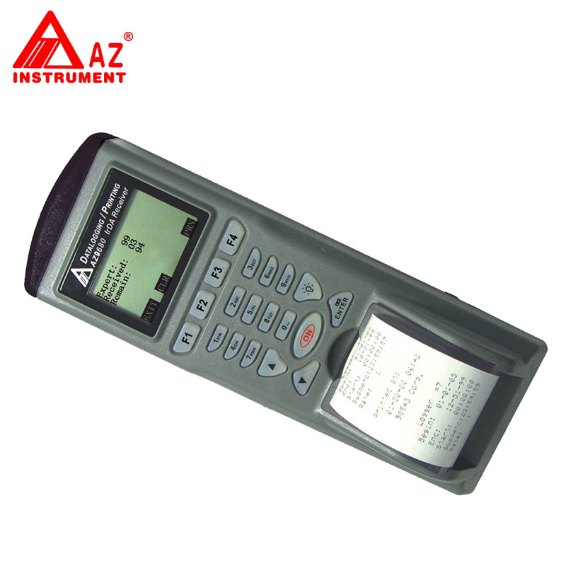 AZ9680 Portable List hygrometer, temperature and humidity meter printer thermometer loggers instrument with black box