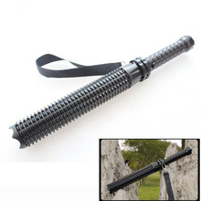 CREE Q5 Extensible Personal Defense Toothed Mace Long Torch Light Flashlight Outdoor
