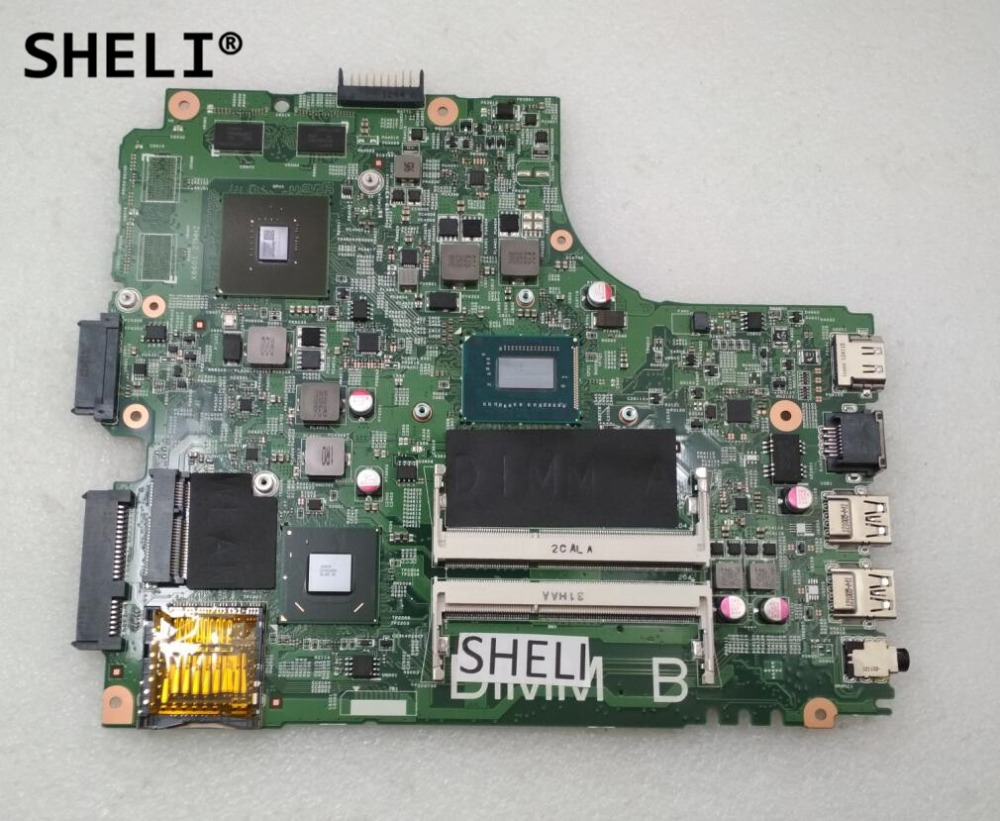 SHELI For Dell 2421 3421 5421 Motherboard I5-3337U DNE40-CR CN-055NJX 055NJX 55NJX nokotion 5j8y4 cn 0pfpw6 0pfpw6 pfpw6 main board for dell inspiron 2421 3421 5421 laptop motherboard sr105 2127u gt625m works