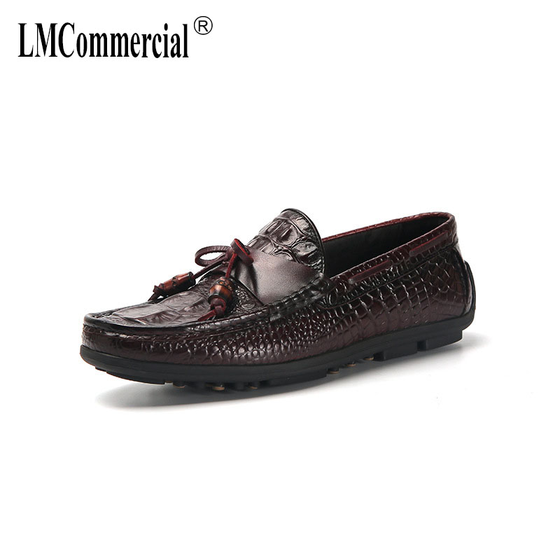 High Quality Genuine Leather mens shoes lazy British driving shoes men casual natural leather loafers all