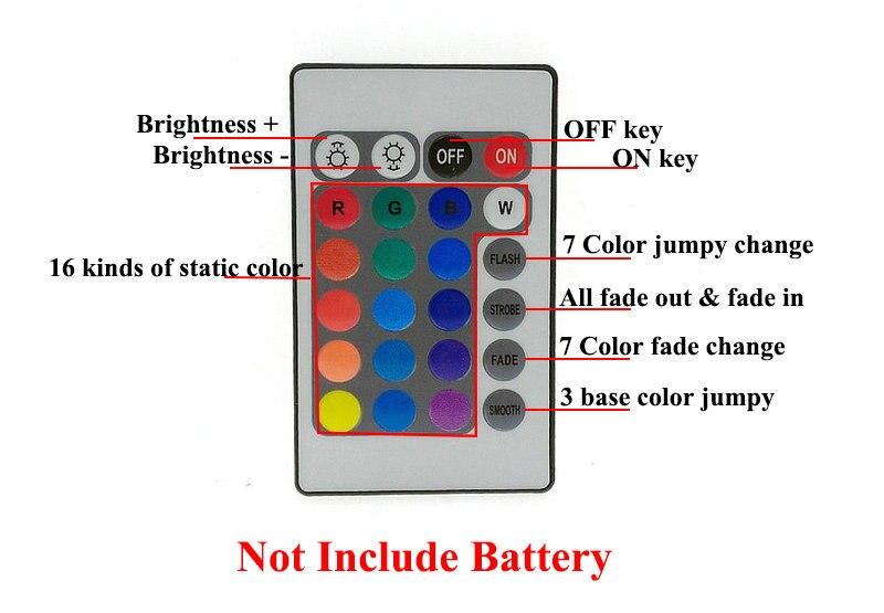 IP65 vandeniui atsparus 5050 RGB 5M LED juostų rinkinys + 24Keys IR - LED Apšvietimas - Nuotrauka 6