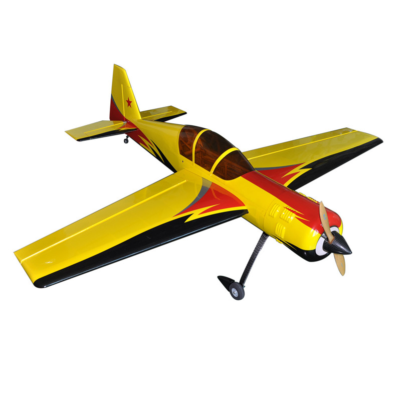 1800mm 70.8 YAK 54 Gasoline RC Plane Model 30CC Wooden Radio Controlled Airplane ARF 88 6in wilga fiberglass version 30cc scale airplane gasoline airplane arf red