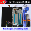 """In Stock! High Quality New LCD Display +Digitizer Touch Screen Assembly For Meizu M3 mini Cellphone 5.0"""" Black Color With Frame"""