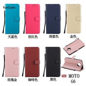 Luksusowy portfel Etui na telefony dla Etui Moto G6 gniazdo na karty Shell przezroczysty portfel Etui na Motorola G6 tanie Celular Pho Ne