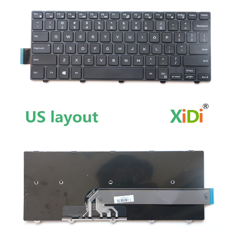 NEW US Laptop Keyboard for DELL inspiron 3458 3451 3443 3449 3441 5442 5443 5445 5447 5451 Laptop Keyboard