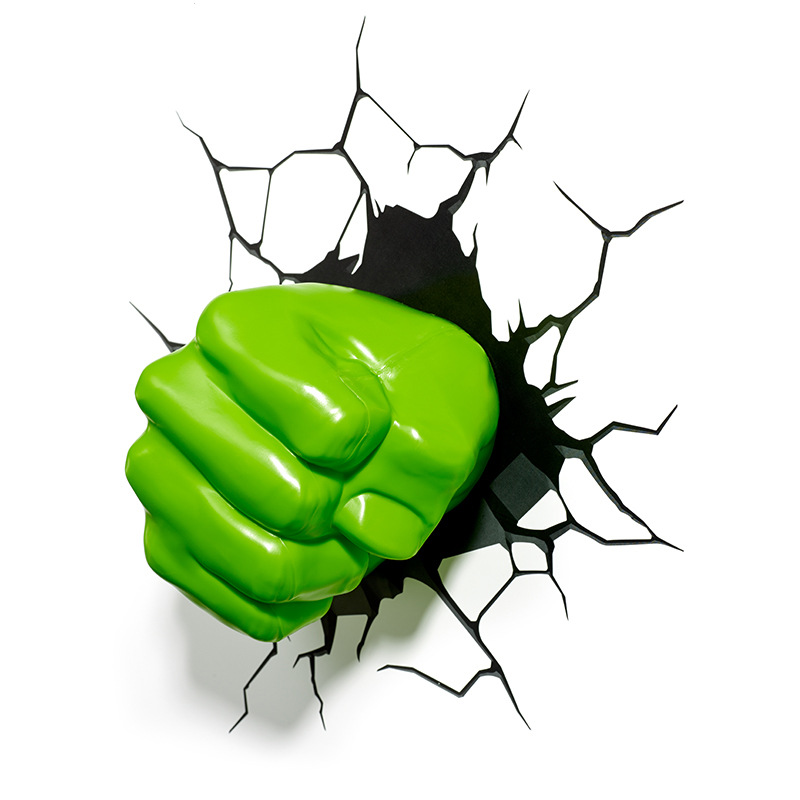 3D Hulk poing applique Avengers enfants bébé sommeil lumière lampe de chevet veilleuse Bar décoration de la maison accessoires nouveauté lumières