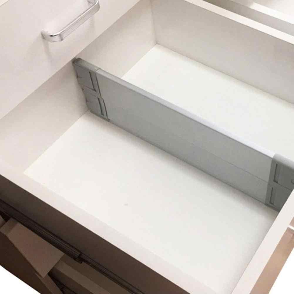 2019 ใหม่ 370-510 มม. ลิ้นชักสีขาวขยายห้องครัวห้องนอน Organizer ของขวัญอลูมิเนียม Baffle