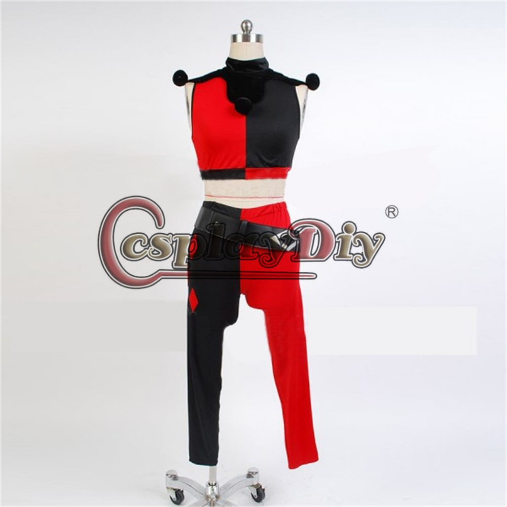 ✓cosplaydiy custom made women costume assaul on arkham harley quinn