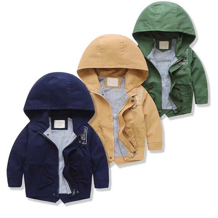 1851415 2018 Весна пальто для маленьких мальчиков цветочные Мода с капюшоном куртка для мальчиков Лолита длинный рукав Верхняя одежда для мальчи...
