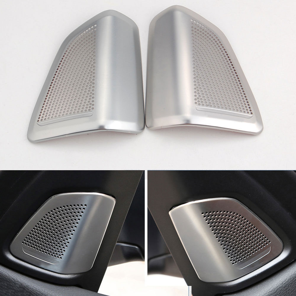 Auto 2pcs Door Inner Upper Loud Sound Stereo Speaker Cover Trim Panel Frame Decoration Fits For BMW X5 F15 2014 Car styling