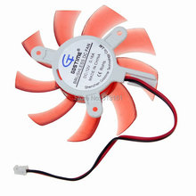 20 pcs/lot Gdstime 75mm DC 12V 2Pin Red Cooling Fan Heatsink Cooler for PC VGA Graphic Card