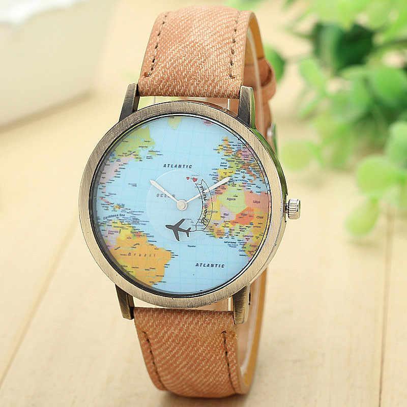 Женские модельные часы JECKSION, модные часы с глобальной проездной картой, ремешок из джинсовой ткани, женские часы 7 цветов, бесплатная доставка RUNER