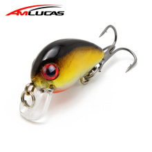 Amlucas 30mm 1.6g Minnow Señuelo de la pesca Japón Mini Crankbait Pesca de la carpa Wobblers Isca Artificial Bait Peche Tackle WE309