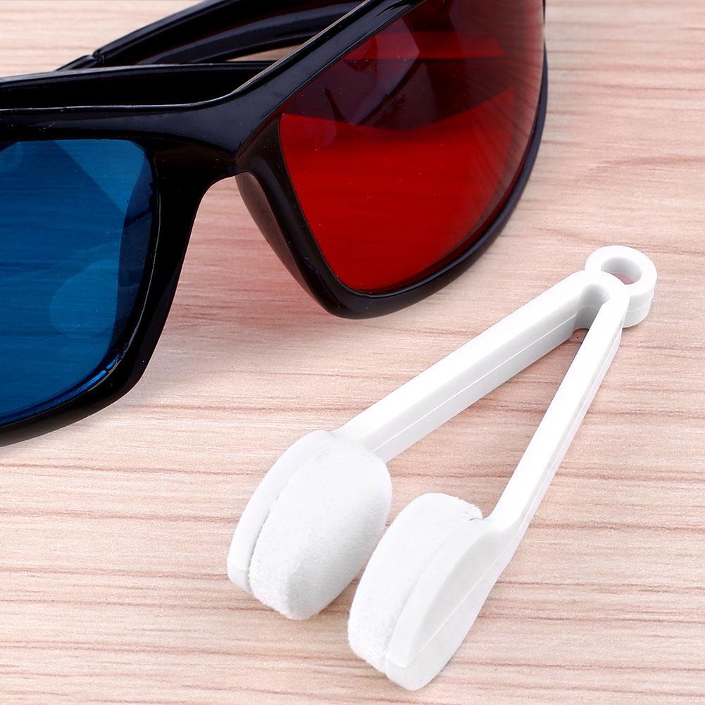 Mini Gafas de Sol Gafas de Microfibra de Limpieza de Lentes Limpiador Cepillo Li