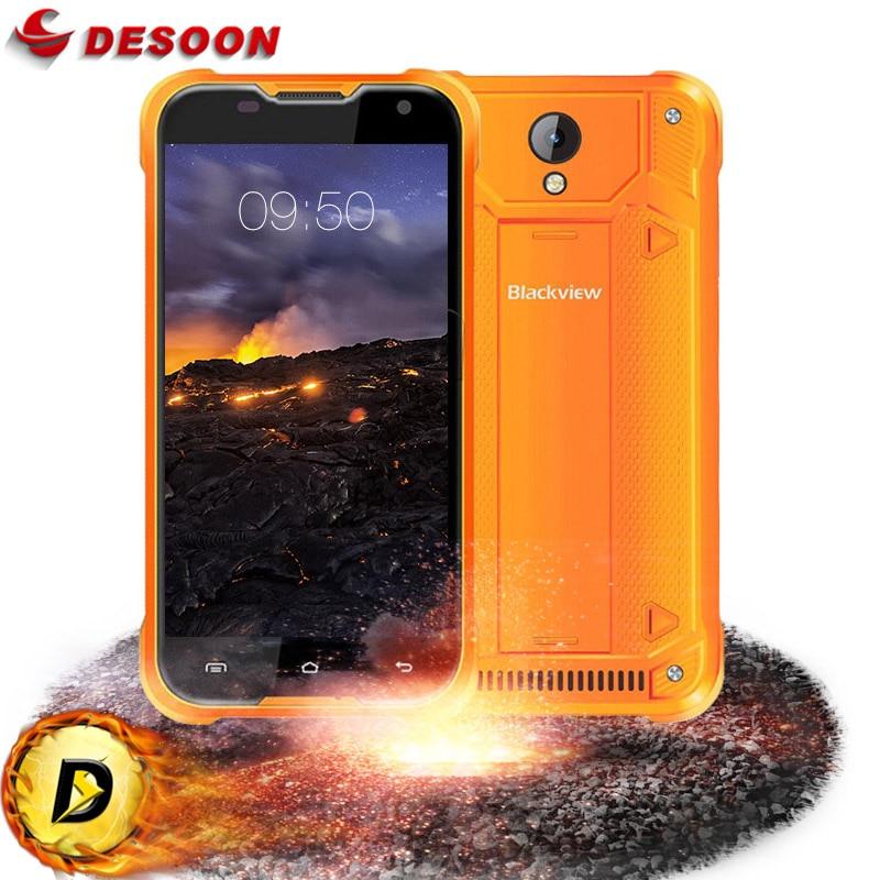 Цена за Оригинал Blackview BV5000 Мобильный Телефон 5 Дюймов 1280*720 2 Г RAM 16 Г ROM MTK6735P IP67 Quad Core Android 6.0 4 Г LTE водонепроницаемый