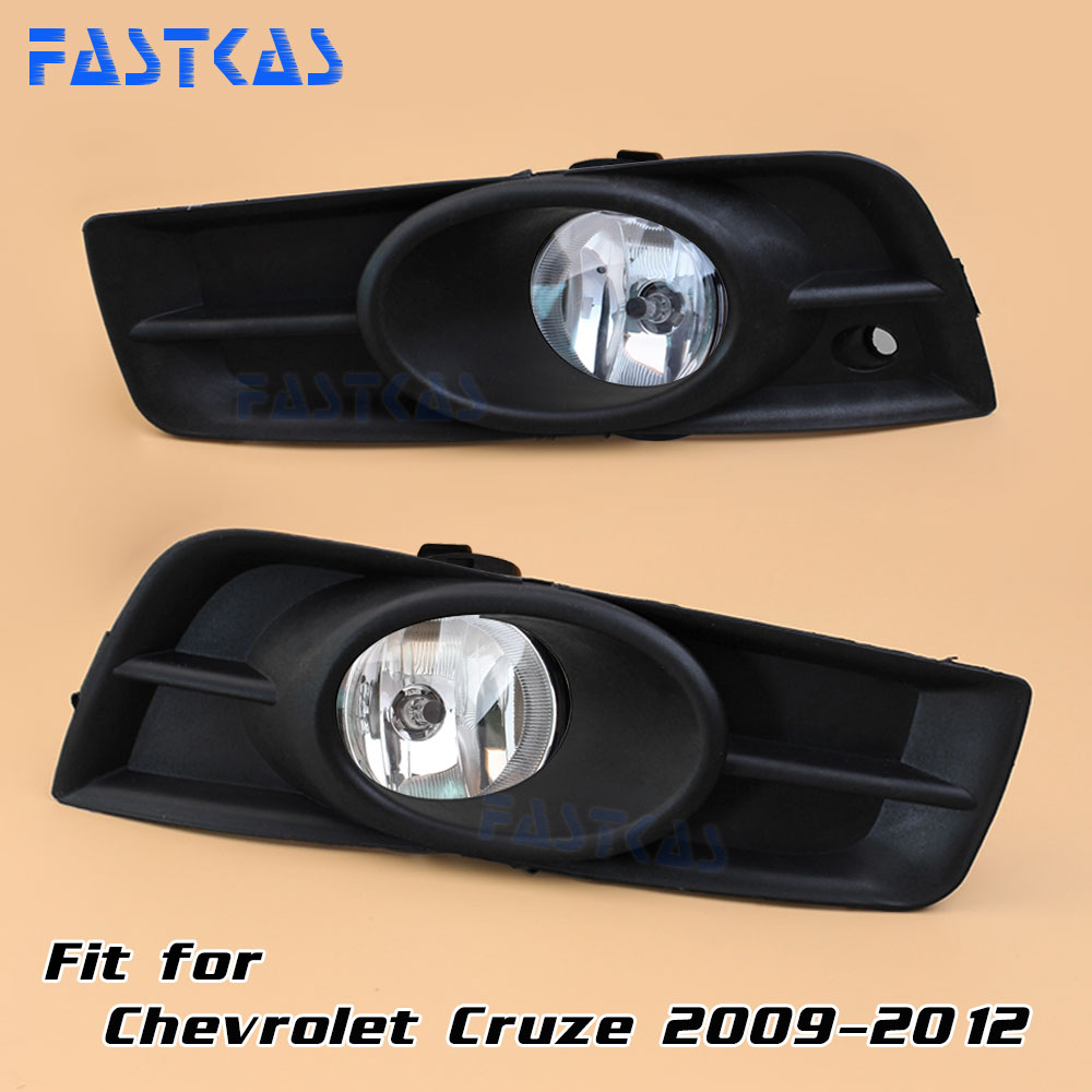 Car Fog Light for Chevrolet Cruze 2009 2010 2011 2012 Left and Right Fog Lamp with Switch Harness Covers Fog Lamp Kit hot sale abs chromed front behind fog lamp cover 2pcs set car accessories for volkswagen vw tiguan 2010 2011 2012 2013