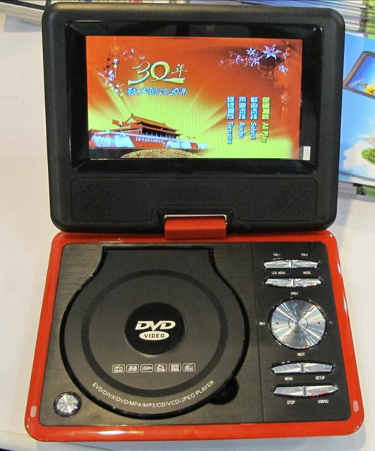 Lonpoo Portable Dvd Player 7 Inch Dvd Player Divx Usb Rca Portable