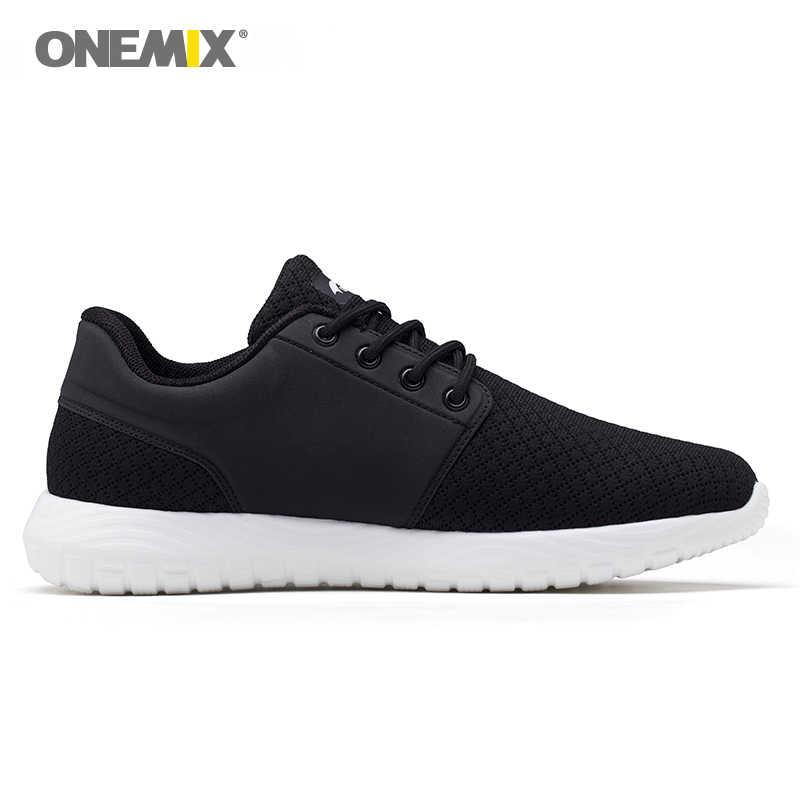 Nuevo Onemix zapatillas de correr para hombre transpirable malla deportes zapatillas ligeras amortiguación DMX zapatillas para caminar al aire libre
